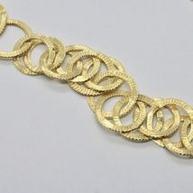 Choker Necklace Silver 925 Foil Gold with Circles by Maria Ielpo Made in Italy - image 3