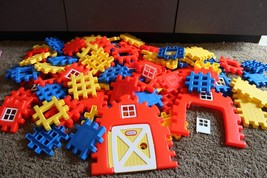 lot Little Tikes Waffle Building Blocks Farm Primary Colors Fun Toy Free... - $79.95