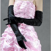 Bling Brides Bouquet Elegant  Bridal Wedding Gloves color black - $15.99