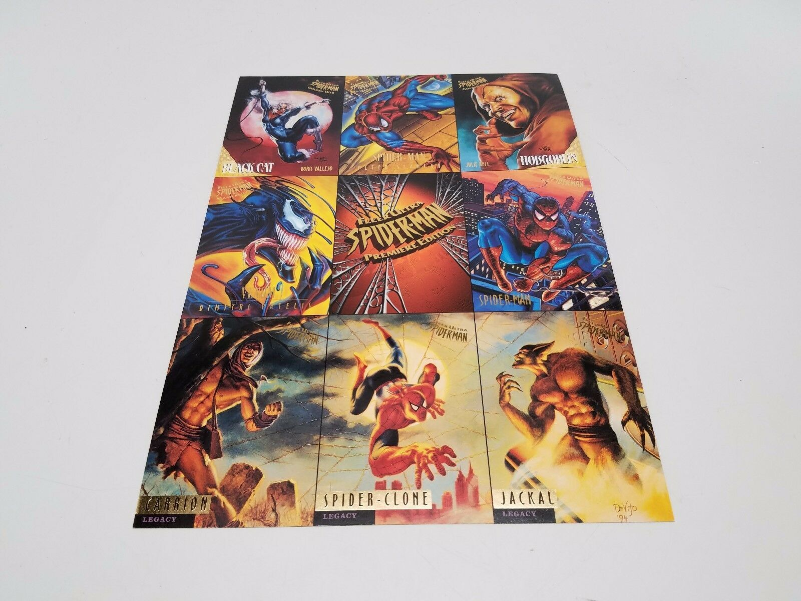 Primary image for Fleer Ultra Spider-Man Premiere Edition Uncut Promo Sheet