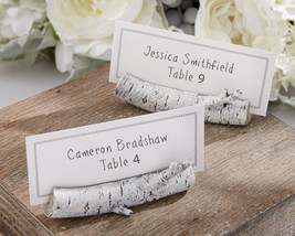 Birch Place Card Holders Set of 6 Party Placecard Holders Wedding Favors - $13.37