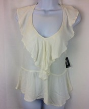 Express Womens Halter Top In Ivory Size Medium - $20.57