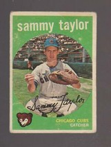 1959 Topps Baseball Card # 193 Sammy Taylor Chicago Cubs Poor - $0.99