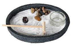 Zen Garden Enlightenment Set Meditation Use Home Office Decor Starter Kit - $22.76
