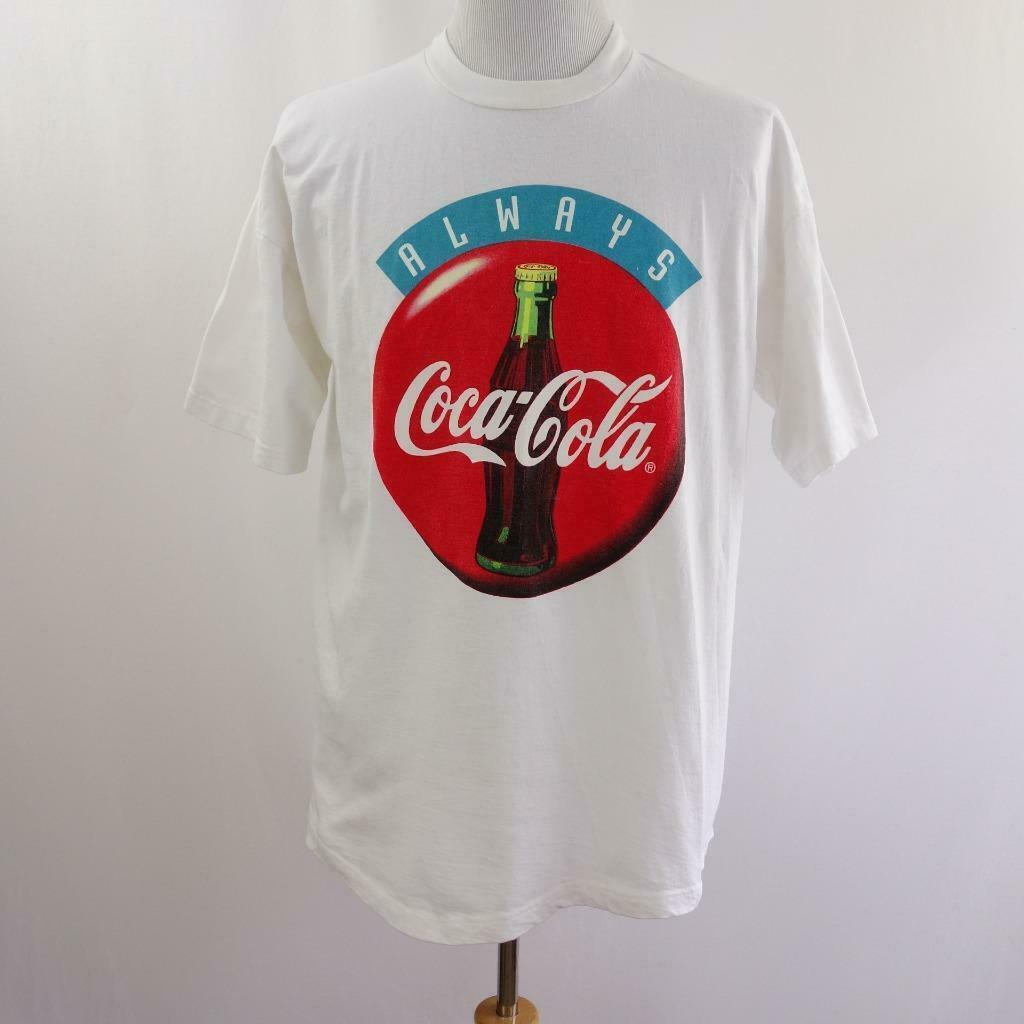 Primary image for Vintage 96 Coca Cola and EEA Sun N Fun Fly In Graphic T Shirt Mens Sz XL USA