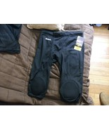 5#K  1 Pair Black Integrated Knee Practice Pant  Riddell Youth size Larg... - $19.79