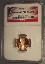 2008-S Proof Lincoln Penny NGC PF 69 Ultra Cameo #G064 - $16.99