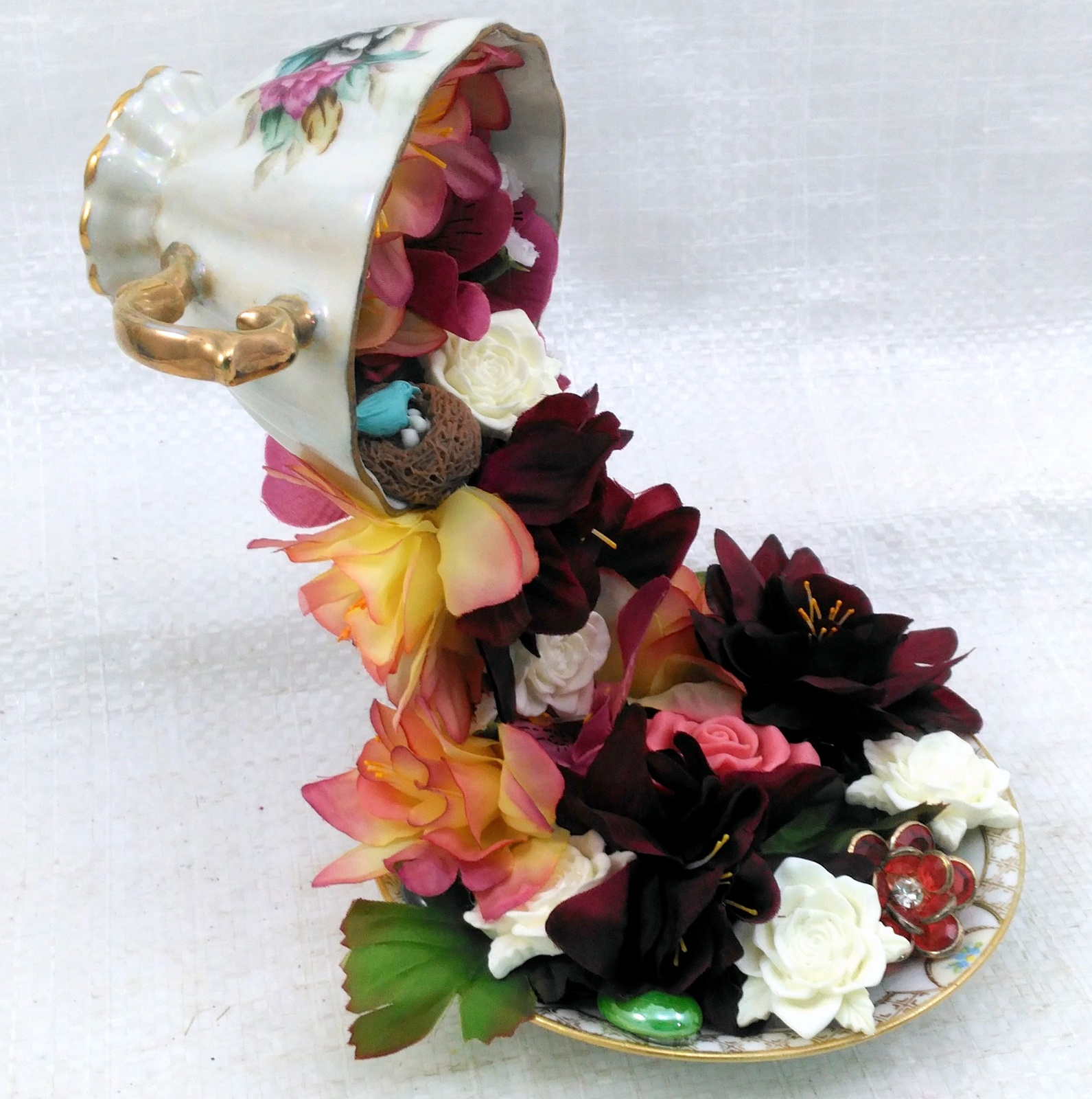 Floating Tea Cup Handmade with Love by Deboriah