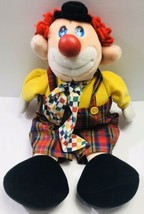 Vintage 1992 Commonwealth Toy Circus Clown 22 Inch Plush Doll Bow Tie Ov... - $128.69