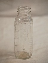 Old Vintage Evenflo Embossed Glass Baby Bottle 8 oz. Made in USA - $12.86