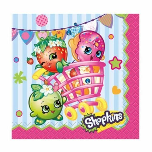 Shopkins Paper 16 Ct Beverage Napkins Birthday