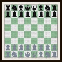 Chess Board Set C2C Crochet Graph Blanket Pattern Written Words - $5.50