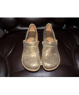 Born B23618 Professional Metallic Crackle Gold Loafers Clogs Women's US ... - $37.26