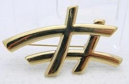 VTG CAROLEE Gold Tone Abstract Pin Brooch - $19.80
