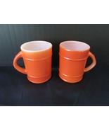 Vintage Pair of Fire King Orange Barrel Coffee ... - $10.00
