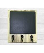 Cute Farmhouse Rustic Wall Organizer, Wooden Message Board, Dog Leash & ... - $25.49