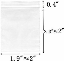 Small Plastic Bags 2''x 2'' Pack of 600 Resealable Zipper Poly Bags Plas... - $17.25