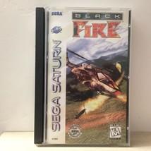 Black Fire Sega Saturn Video Game Exclusive CIB COMPLETE Helicopter  - $16.44
