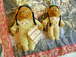 PAIR OF INTERNATIONAL GOFFA  MEXICAN-INDIAN STUFF PLUSH TOYS & QUILT CUR... - $49.49
