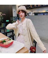 Ball sweater cardigan female short paragraph 2019 early autumn new loose... - $30.60