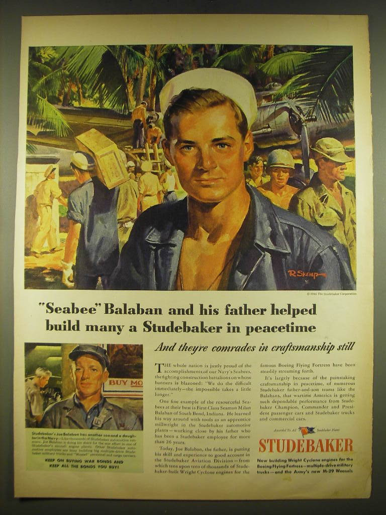 1944 Studebaker Advertisement - art by Robert Skemp - $14.99