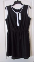 Apt. 9 Black TIe Sleeveless Shirt Dress with White Trim Women's Sz M NWT... - $25.48