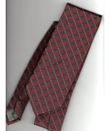 David Taylor Collection Mens Necktie Red Geometric Pattern Tie - $15.00