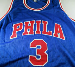 ALLEN IVERSON / NBA HALL OF FAME / AUTHOGRAPHED CUSTOM BASKETBALL JERSEY / COA image 2
