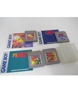 Original Gameboy Authentic 4 Game Lot Pac-Man QIX F-1 Race Aladdin with ... - $25.00