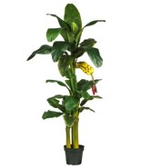 Nearly Natural 5226 Triple Stalk Banana Silk Tree, 6-Feet, Green - $226.19