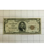 1929 National Currency Federal Reserve Bank of Chicago Illinois $5 Dolla... - $60.00