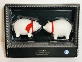 Ciroa White Piggy Salt and Pepper Shakers New  - $9.99