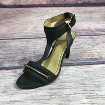 Nine West Manii Heels Shoes Size 6 Black Sandals T Strap Ankle  - €17,97 EUR