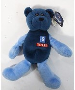 Tennessee Titans Blue mini Pro Bear 1999 Steve McNair # 9 NFL Limited H14 - $17.77