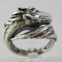 Silver Ring 925 Burnished with Head and Tail of Horse Made in Italy image 4