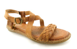 BORN Size 8 Natural Leather Ankle Strap Sandals Shoes - $45.00