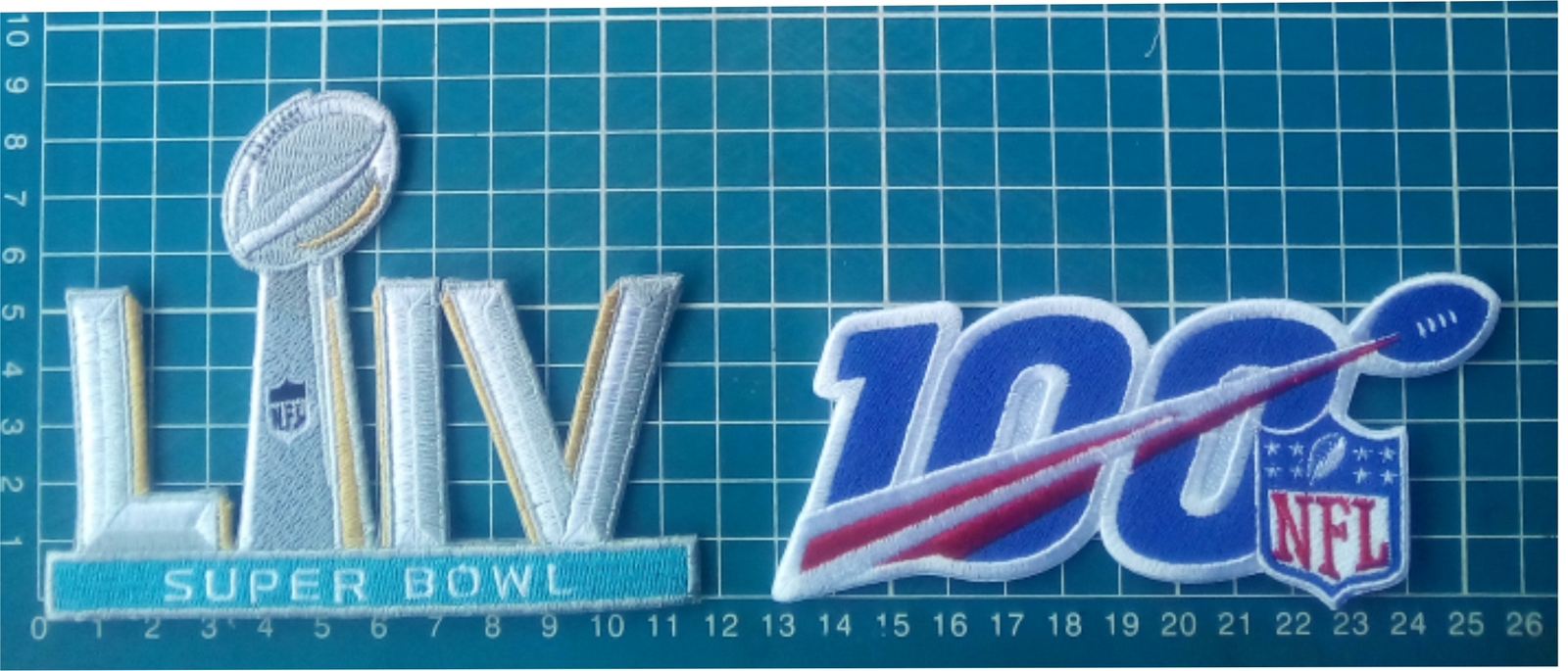 Primary image for NFL100 anniversary centennial season Football superbowl 54 LIV Jersey Patch