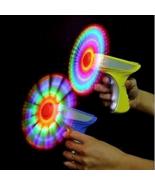 LIGHT UP SPINNING WINDMILL FLASHING PISTOL TOY GUN boy toys makes noise new - $9.45