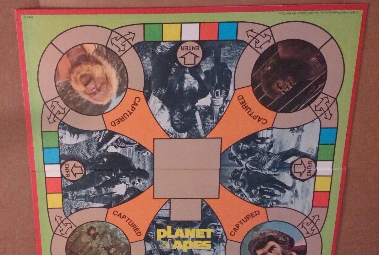 1974 Milton Bradley Planet Of The Apes Board Game GAME BOARD ONLY