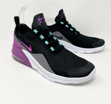 Nike Air Max Women's 5.5 Motion 2 4Y Youth Black Purple Shoes AQ2741-013 - $72.65