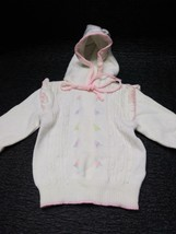 Gymboree White With Pink Floral Girls XL Cardigan Sweater - $9.99