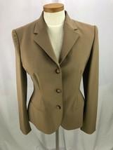Ralph Lauren Black Label Women's Beige Wool Blend Blazer Jacket 8 Career - $67.72