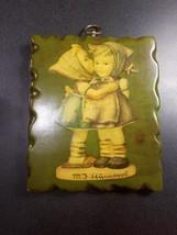 "strange mid century plaster Hummel boy and girl wall plaque 9""x7.5"" - $15.84"