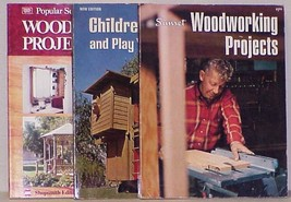 WOODWORKING PROJECTS - Lot of 3 Books by SUNSET & Popular Science - $14.99