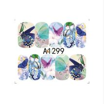 "HS Store -1 Sheets Nail Sticker Butterfly ""A1299"" Nail Decorations UV Ge... - $2.51"