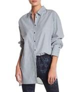 FREE PEOPLE Striped Hi-Low Lakehouse Oversize Button Down Shirt Mult Sz - $74.99