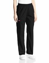 Dickies Women's Signature Elastic Waist Scrubs Pant, Black, X-Large XL 86016 NWT - $21.49