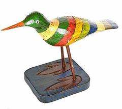 "WorldBazzar 10"" Hand Carved Painted Wood Carving SEA Bird SHOREBIRD Sand... - $14.79"