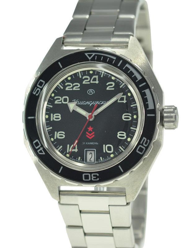 Vostok Komandirskie 650541 Automatic 24 Hours Russian Military Wristwatch