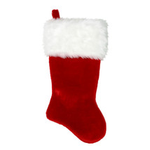"""19.5"""" Red Super Plush Christmas Stocking with White Cuff - $24.95"""